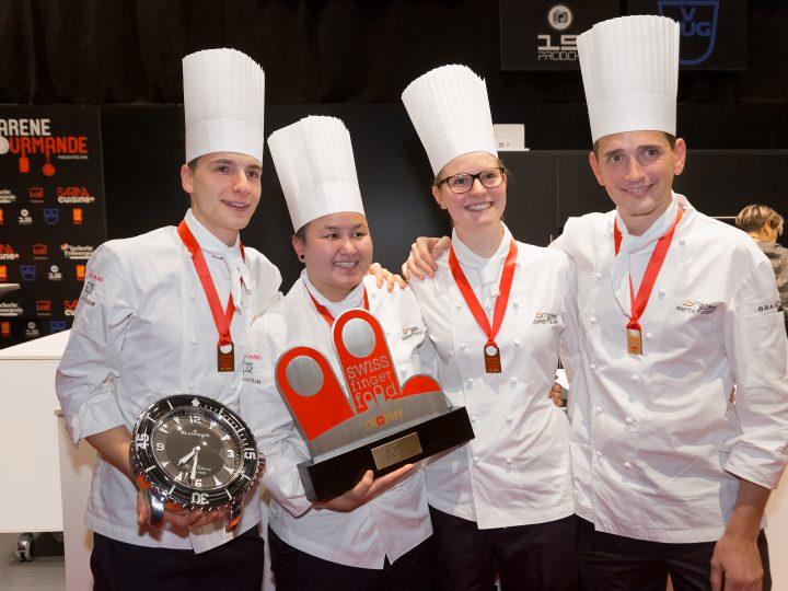 L'équipe KoEzion remporte le Swiss Finger Food Trophy 2017